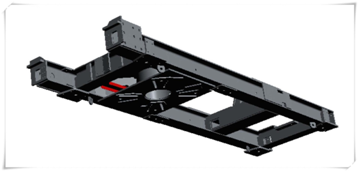 Steel Chassis for cable car drive unit