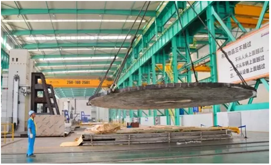 8.6m large tube plate machining for oxidation reactor project