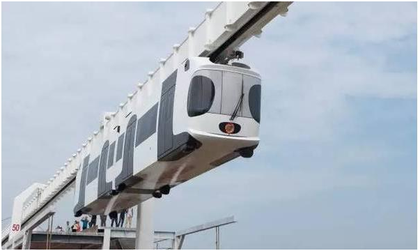 China's first new energy sky train runs trial in Chengdu