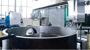 Large turbine parts custom made for Israel power plant