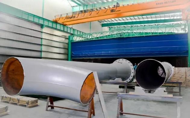 ASME coded large vent stack for compressor station in petroleum transmission pipeline