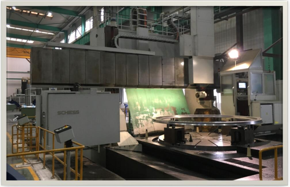 Large vertical turning machine tool