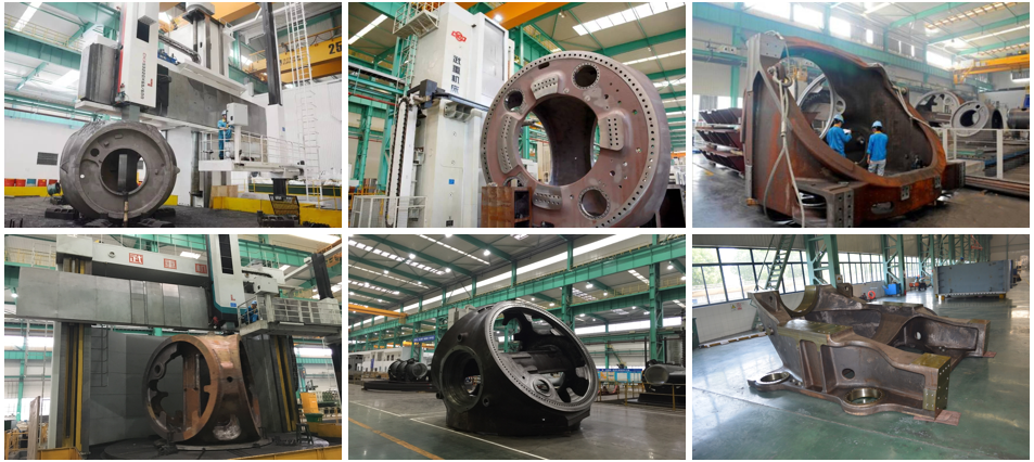 Wind power components casting and machining
