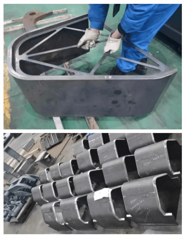 Fabrication of bucket parts for excavation machine